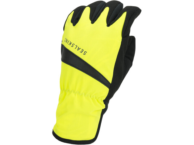 Sealskinz Waterproof All Weather Handsker, neon yellow/black